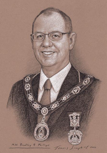 M.W. Bradley R. Phillips. Past Grand Master. Grand Lodge of Arkansas. by Travis Simpkins