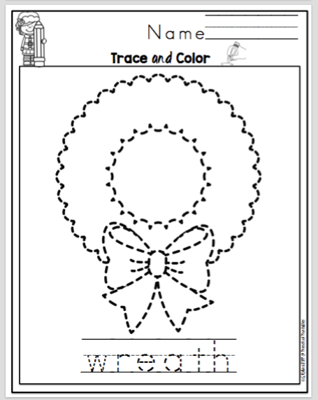 Christmas Trace the Pictures ~ Preschool Printables