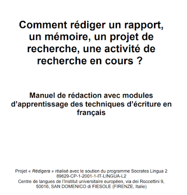 Comment rédiger un rapport, un mémoire, un projet de recherche, une activité de recherche en cours ?