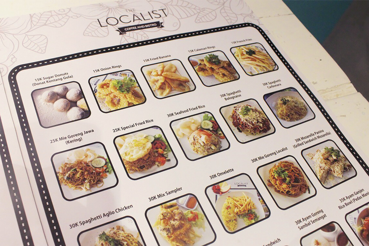 The Localist Cafe Surabaya Menu