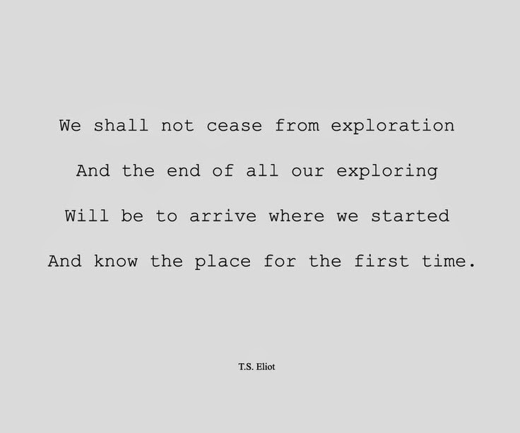 Exploration Ts Eliot Quotes Quotesgram: Musings Of An Unapologetic Dreamer: What Does This Quote