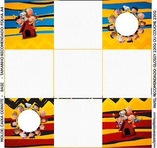 Charlie Brown and Snoopy: Free Printable Boxes.