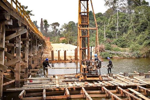 Iniciada a construção da ponte de concreto sobre o rio Jacy-Paraná, de Buritis a Nova Mamoré
