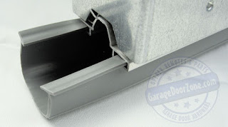 "3"" Gray 1/4"" T-style Vinyl Garage Door Seal"