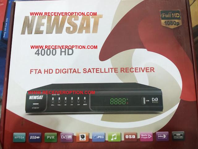 NEWSAT 4000 HD RECEIVER BISS KEY OPTION