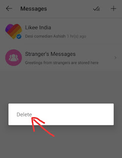 Delete my Like App Account
