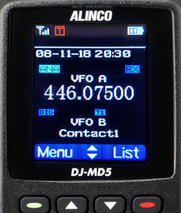 DMR display Alinco dual band