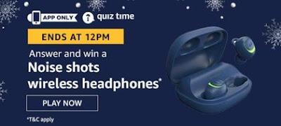 Amazon Quiz Noise Shots Wireless Headphones