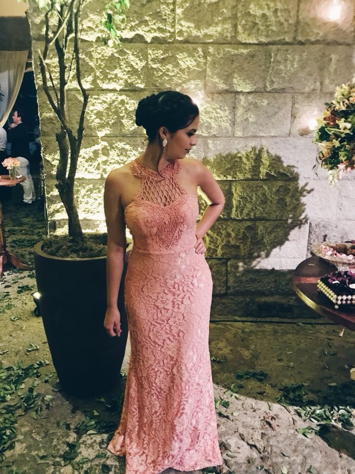 Madrinha de casamento - Vestido Rose