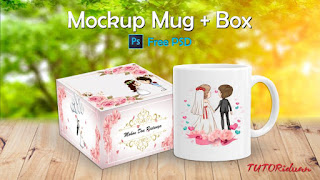 Tutorial Mockup Mug + Mockup Box Photoshop (Free PSD)