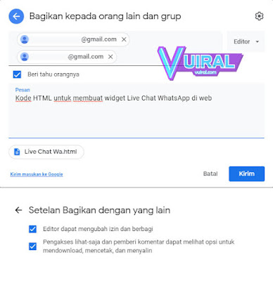 Cara Memberi Akses Google Drive Kepada Orang Lain Via Email