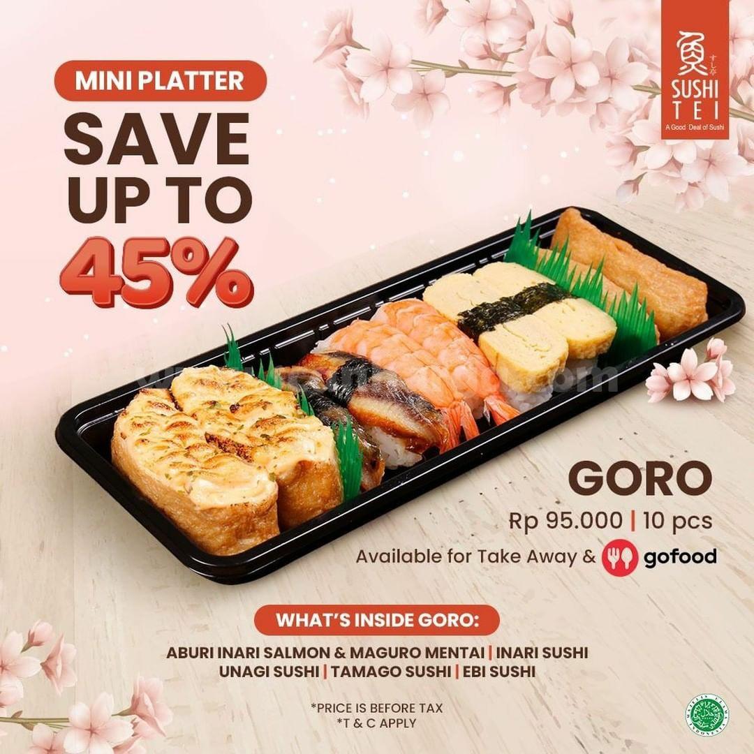 Sushi Tei Promo Mini Platter Goro Diskon 45% via Gofood