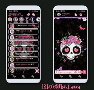 Skull & Flowers Theme For YOWhatsApp & RA WhatsApp By Natalia Luz