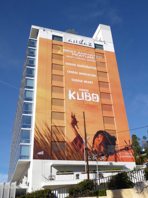 Giant Kubo Two Strings Oscar consideration billboard