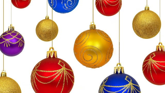 High Resolution Christmas Ornaments Wallpaper