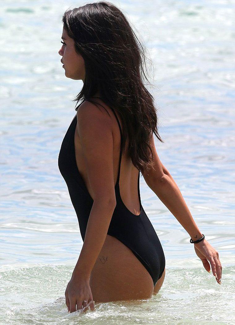 Black High Leg Swimsuit