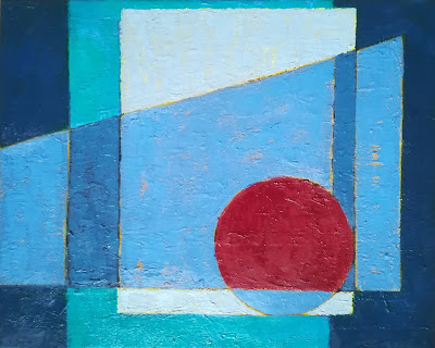 abstract painting, picasso, oil paint, blue, moon,