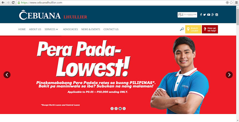 Cebuana Lhuillier Pawnshop Website