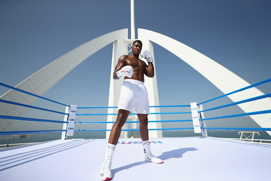 Anthony Joshua Trains in the World's Highest Boxing Ring