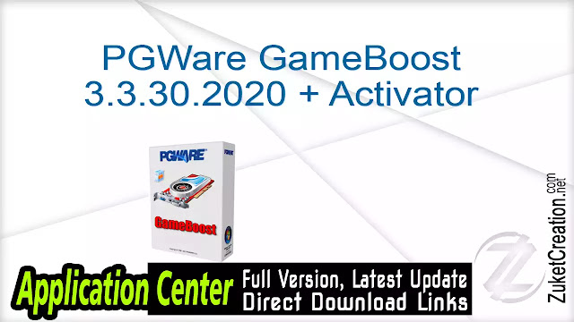 PGWare GameBoost 3.3.30.2020 + Activator
