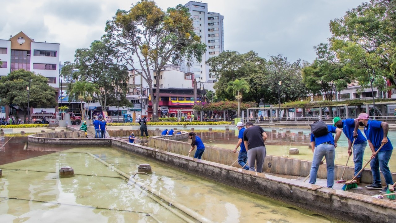 Así, el Gobierno de la ciudad le apuesta a una Pereira más limpia y ordenada con la intervención de los parques