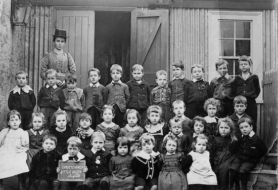 Pupils at Christ Church School, Little Heath in the 1900s Photographer unknown, image from the Peter Miller collection