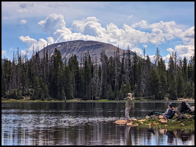 Hubby and Daughter Fishing at Crystal Lake