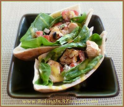 Warm Chicken Pockets | recipe developed by www.BakingInATornado.com | #recipe #lunch