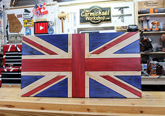 Wooden Union Jack Flag by The Carmichael Workshop