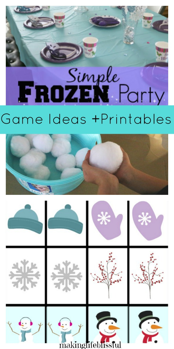 Simple FROZEN Birthday Party Ideas \u2013 2 Making Life Blissful