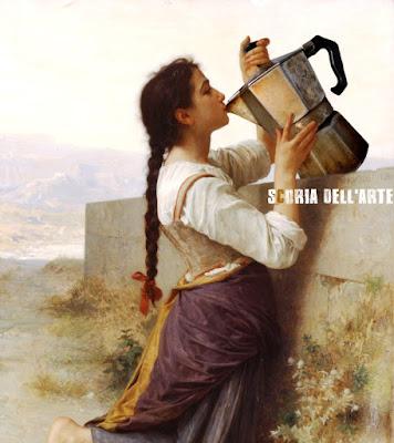 Fotomontaggi satirici di dipinti classici-Scoria dell'Arte