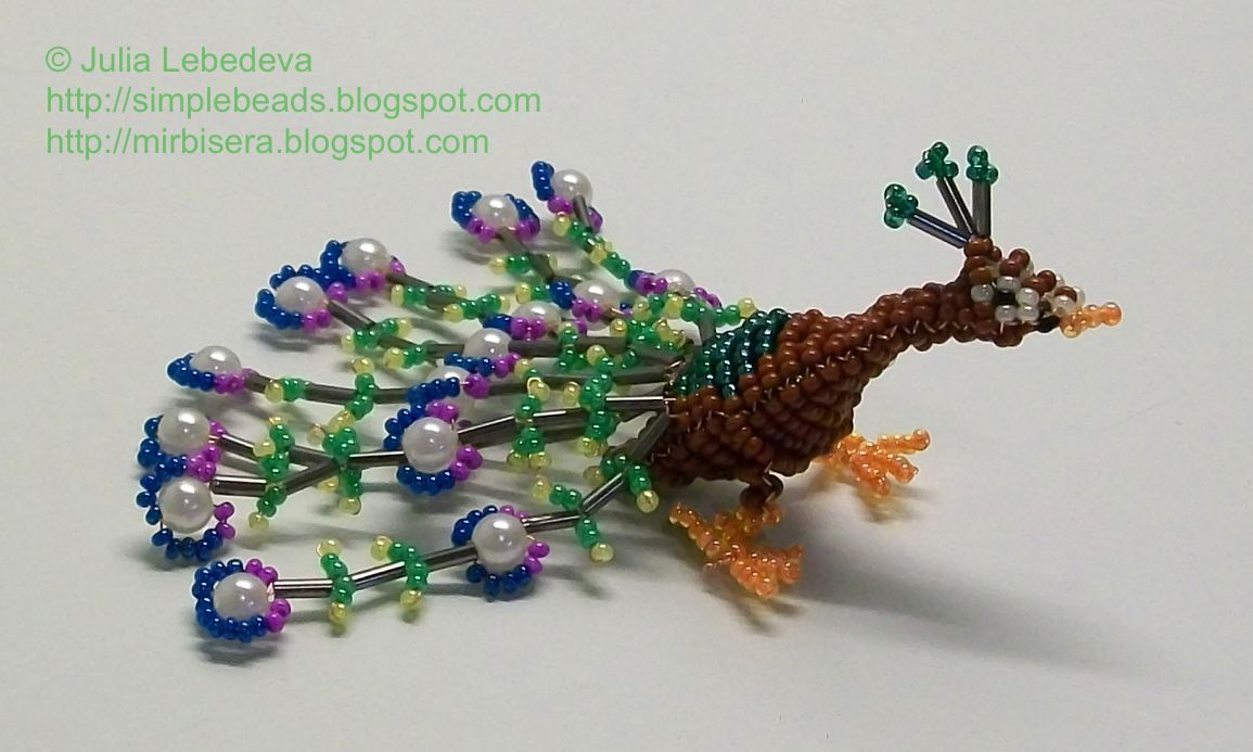 Beading For The Very Beginners Peacock