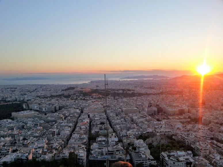 Uitzicht over Athene vanaf Lycabettus