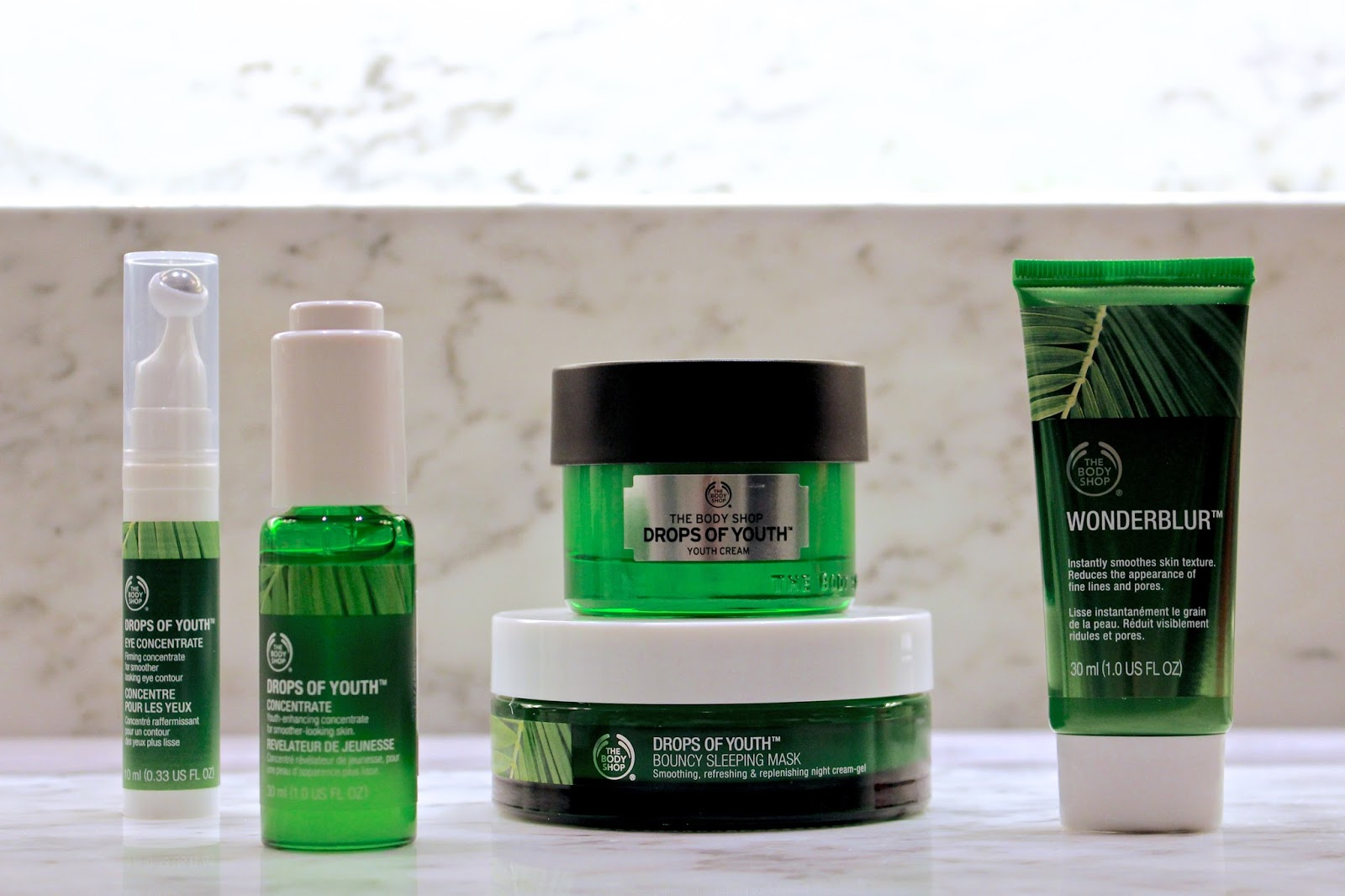 the body shop drops of youth range review