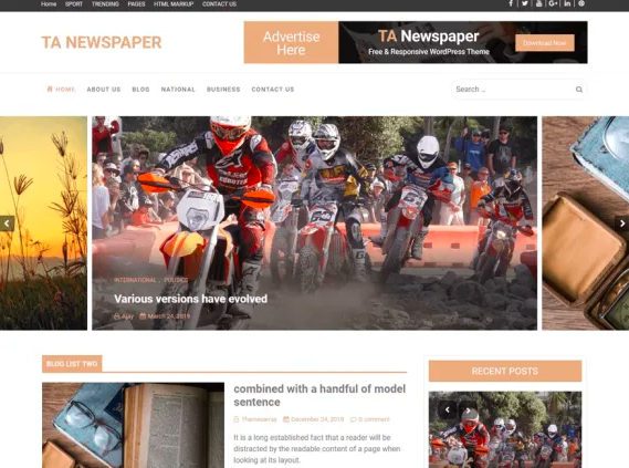 Template Website Sederhana - TA Newspaper