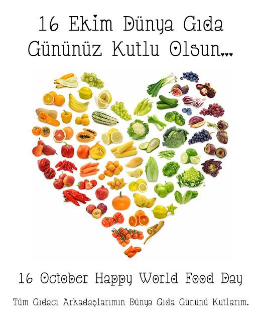 16 Ekim Dünya Gıda Gününüz Kutlu Olsun