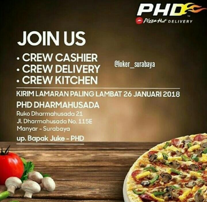 Melamar Lowongan Kerja Di Pizza HUT Delivery Surabaya