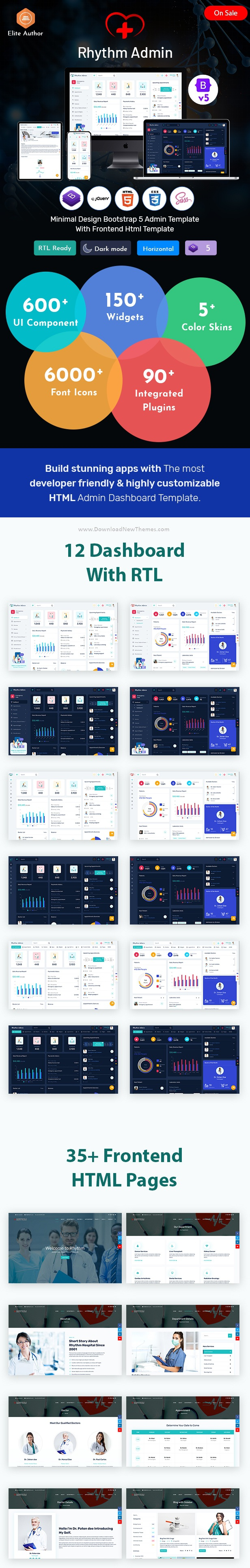 Medical Responsive Bootstrap 5 Admin Template