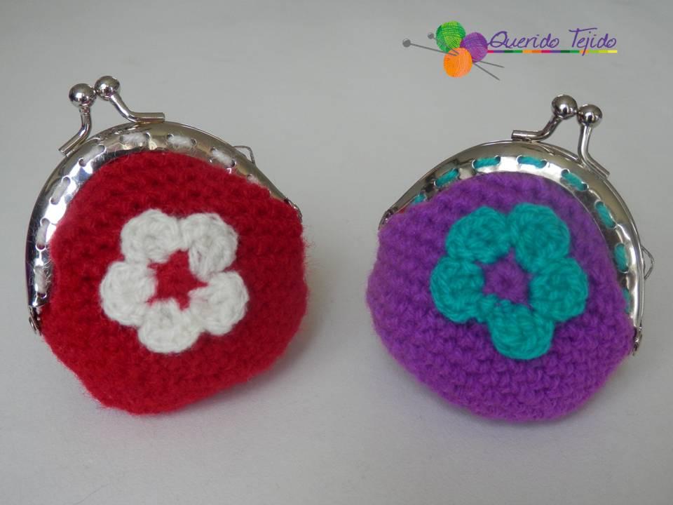 Querido Tejido: Monedero crochet con broche redondo