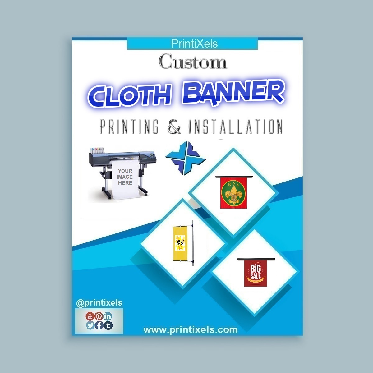 Fabric Cloth Banner Printing & Installation