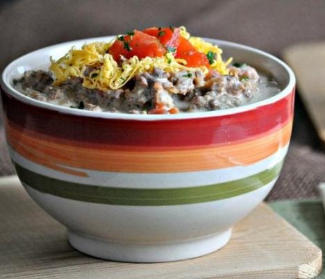 KETO BACON CHEESEBURGER SOUP #healthy #paleo #keto #soup #recipes