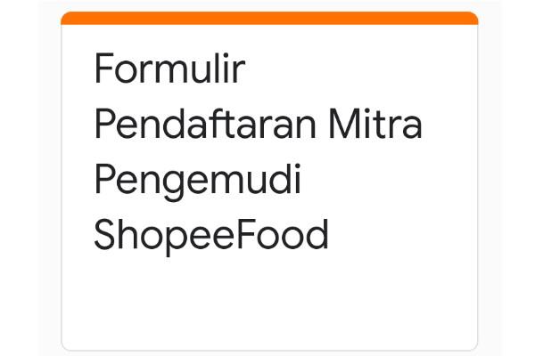 Cara daftar jadi driver shopee food