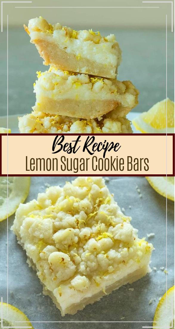 Lemon Sugar Cookie Bars #desserts #cakerecipe #chocolate #fingerfood #easy