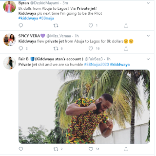 Kiddwaya Reveals He Paid $8000 For A Private Jet Trip To Lagos From Abuja For The Show, Nigerians React