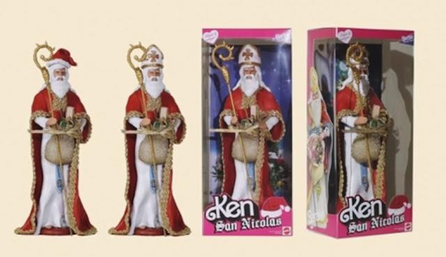 bonecas barbie modificadas, bonecas personalizadas, bonecas barbie religiosas, barbie baphomet, boneca barbie baphomet, boneco são nicolas