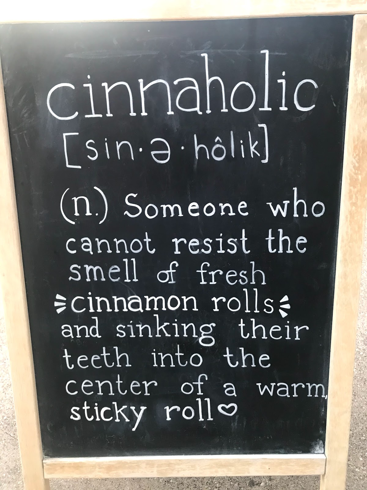 The recipe log inside Cinnaholic Cinnabon cafe. Weekend Bits And Favorites