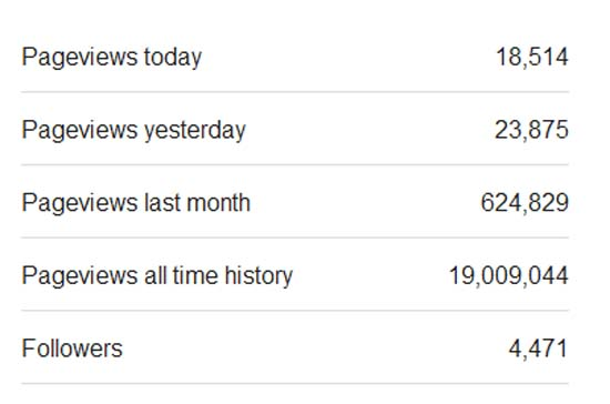 Blog Capai 19 Juta Pageviews