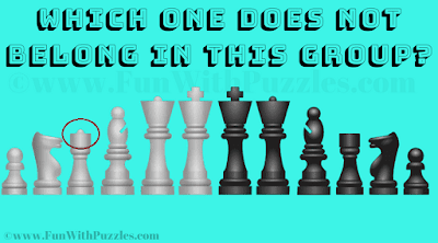 Answer of Visual Brain Teaser for Teens-Chess Pieces