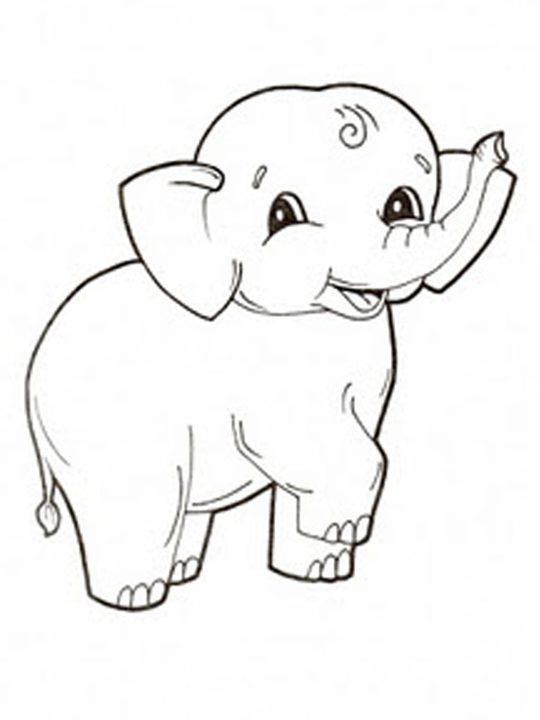 Elephants coloring pages realistic realistic coloring pages for Coloring pages elephant