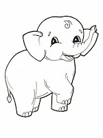 Elephant Baby Kids Coloring Pages Printable